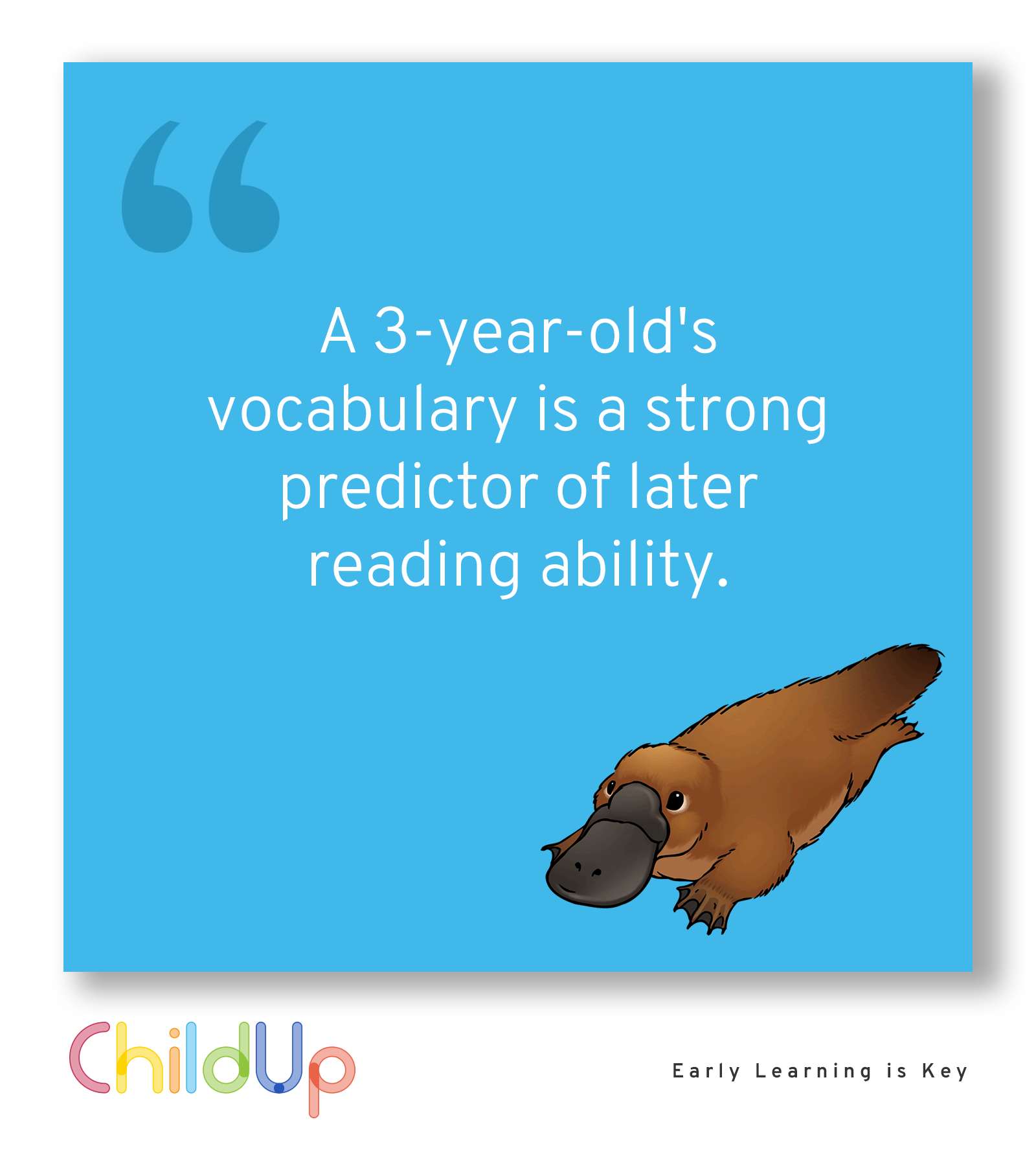 A 3-Year-Old's Vocabulary Is A Strong Predictor