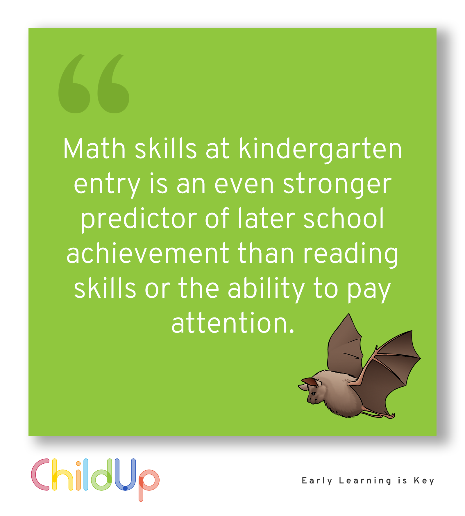 Math Skills at Kindergarten Entry